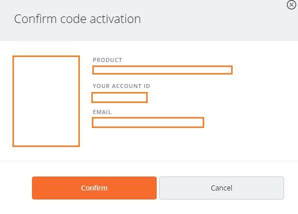 Origin Confirmar activação do código