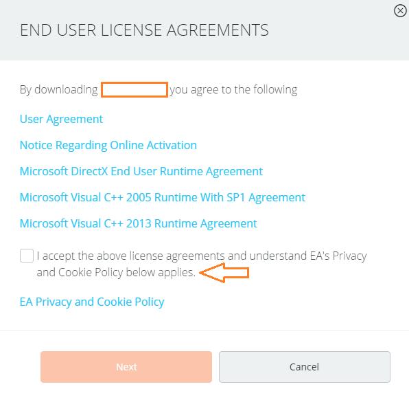 Contrato de Licença de Utilizador Final de Origin