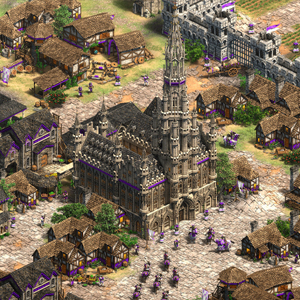 Age of Empires 2 Definitive Edition Lords of the West Centro da Cidade