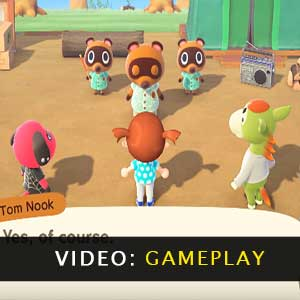 Animal Crossing New Horizons Nintendo Switch vídeo de jogabilidade