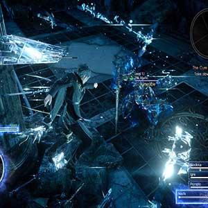 Final Fantasy 15 Xbox One Enfrentando o inimigo gigante