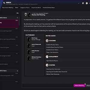 Football Manager 2022 Reunião Semanal Do Pessoal