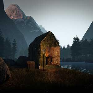 Icarus Cabine perto de um lago