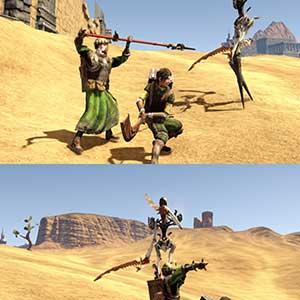 split-screen gameplay