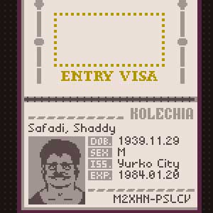 Papers Please - Visa