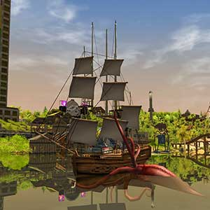 RollerCoaster Tycoon 3 Complete Edition Navio pirata