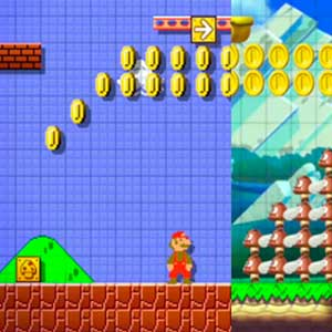 Super Mario Maker Nintendo Wii U Facing enemies