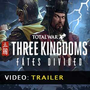 Total War THREE KINGDOMS Fates Divided Vídeo do atrelado