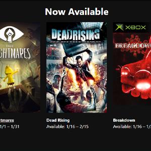 XBOX LIVE GOLD Jogos Grátis