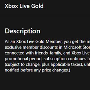 Xbox Live Gold Membership 12 Months Subscription Descrição