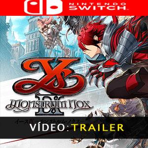 Ys IX Monstrum Nox Nintendo Switch Atrelado De Vídeo